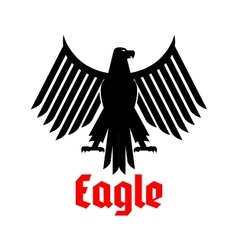 Heraldic icon of black eagle sign vector