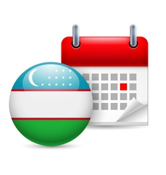 Icon of National Day in Uzbekistan vector image