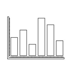 Monochrome silhouette of statistical graphs thick vector