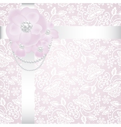 pearls and roses vector image vector image