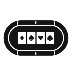 Poker table icon simple style vector image