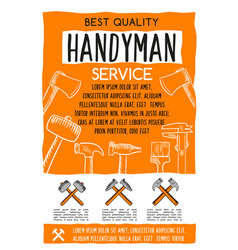 Poster for handy home repair service vector
