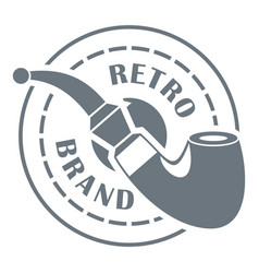 retro brand logo simple style vector image vector image