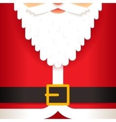 Santa claus beard belt greating card template flat vector