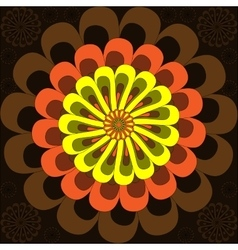 Simple flower vector image