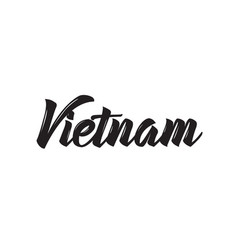 Vietnam text design calligraphy vector