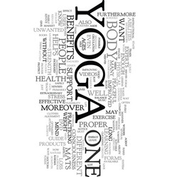 Yoga products text word cloud concept vector