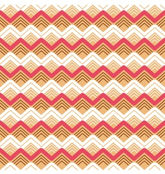 Zigzag seamless colorful pattern background vector image