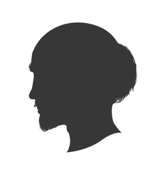 Man male head silhouette avatar icon vector