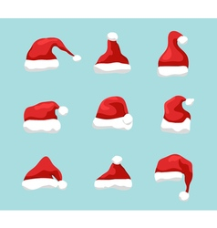 Santa hat symbol  holiday red hat santa claus vector