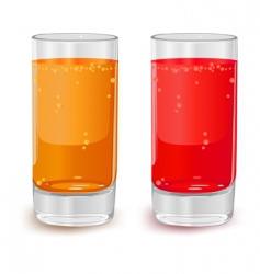 glasses of fruit juice vector image