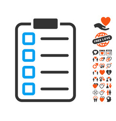 examination icon with dating bonus vector image