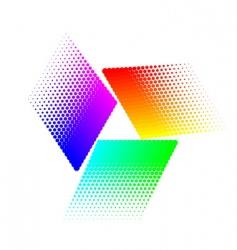 halftone triangular vector image