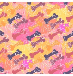 Abstract dog with boneseamless pattern on the vector