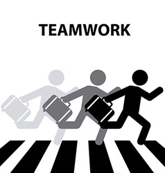 Teamwork crosswalk vector