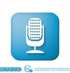 Microphone character singing and the music vector
