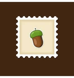 Acorn stamp harvest thanksgiving vector