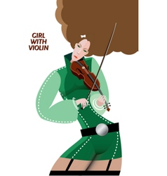 Girl with violin vector