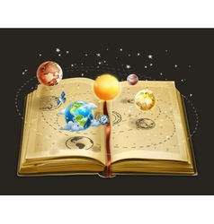 Book on astronomy icon vector image