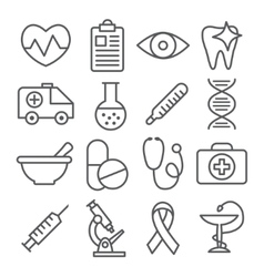 Medical Line Icons vector image