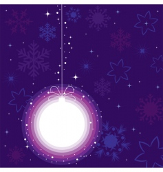 a ball for Christmas tree vector image
