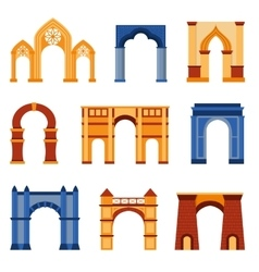 Arch set vector image