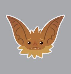 bat emotional head of bat vector image vector image