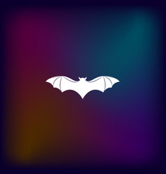 Bat silhouette icon vector