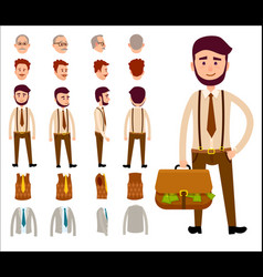 businessman constructor isolated vector image vector image