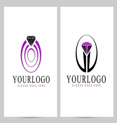 Diamond Logo Creative vector image