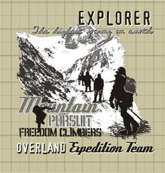 explorer expedition vector image vector image