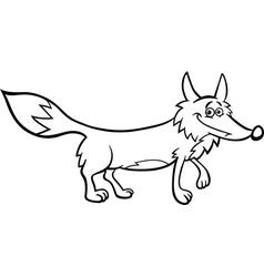 fox cartoon for coloring vector image vector image