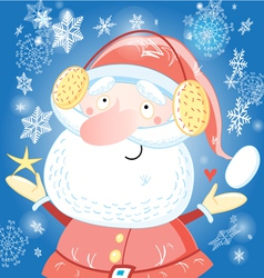 Funny portrait of santa claus vector