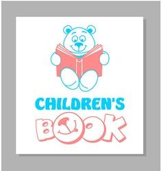 Funny teddy bear reading a book 2 vector
