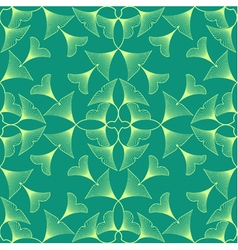 Ginkgo biloba leaves seamless pattern vector