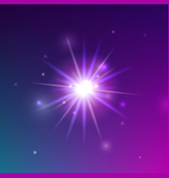 glowing light shine vector image