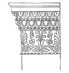 Ionic antae capital from the temple of minerva vector