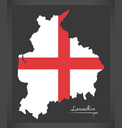 Lancashire map england uk with english national vector