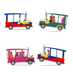 Philippine jeep cartoon vector