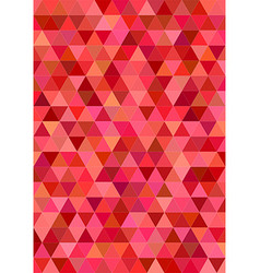 Red abstract regular triangle tile design vector