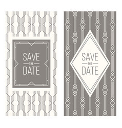 retro invitation templates patterned background vector image vector image