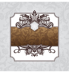 Royal ornate vintage frame vector