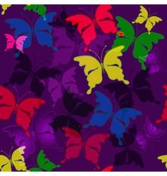 seamless dark violet pattern vector image