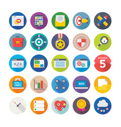 Seo and digital marketing icons 10 vector