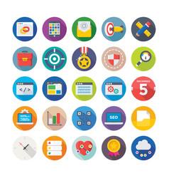seo and digital marketing icons 10 vector image