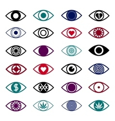 Set of Eye Icons vector image