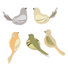 set of stylized birds a collection of vector image