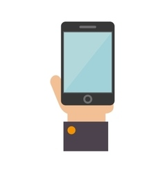 Smartphone hand screen mobile icon vector
