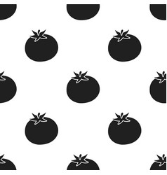 tomato icon black singe vegetables icon from the vector image vector image