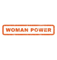 Woman Power Rubber Stamp vector image